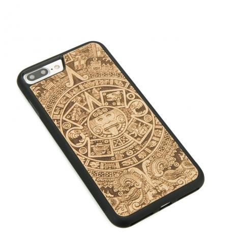 Drewniane Etui iPhone 7 Plus / 8 Plus KALENDARZ AZTECKI ANIEGRE