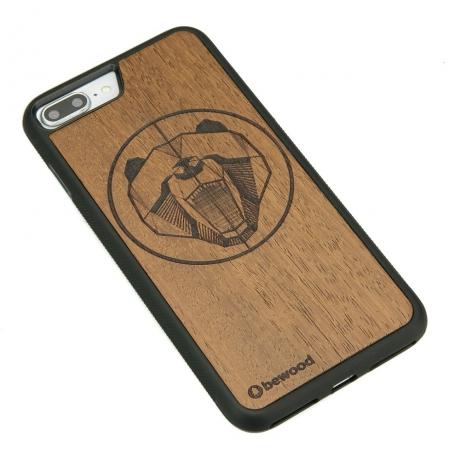 Drewniane Etui iPhone 7 Plus / 8 Plus NIEDŹWIEDŹ MERBAU