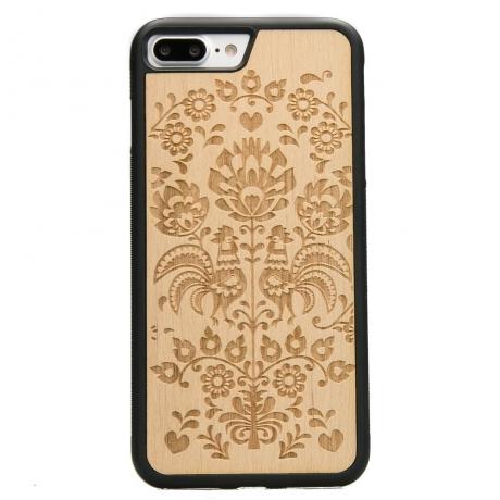 Drewniane Etui iPhone 7 Plus / 8 Plus POLSKI FOLK ANIEGRE