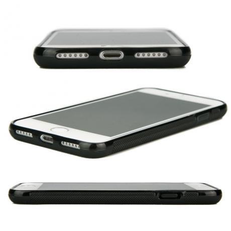 Drewniane Etui iPhone 7 Plus / 8 Plus RÓŻA WIATRÓW MERBAU