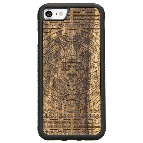 Drewniane Etui iPhone 7/8 KALENDARZ AZTECKI LIMBA
