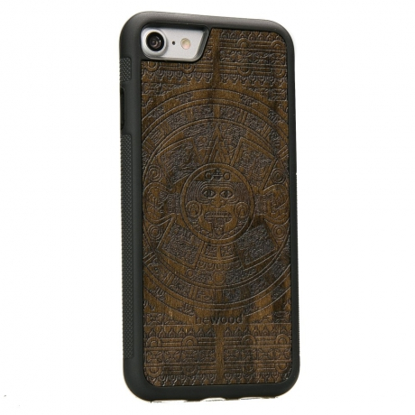 Drewniane Etui iPhone 7/8 KALENDARZ AZTECKI ZIRICOTE