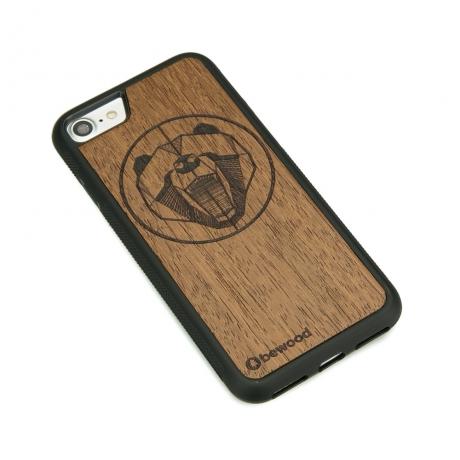 Drewniane Etui iPhone 7/8 NIEDŹWIEDŹ MERBAU