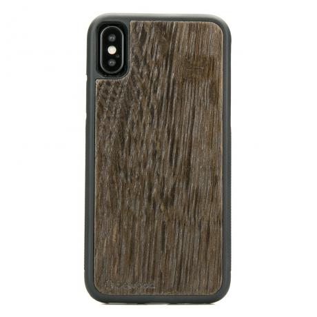 Drewniane Etui iPhone X/XS DĄB WĘDZONY