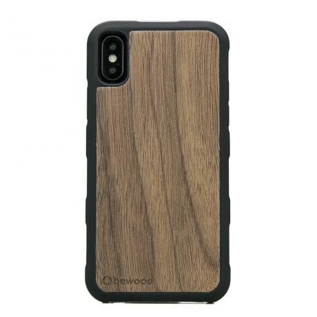 Drewniane Etui iPhone X/XS ORZECH AMERYKAŃSKI HEAVY