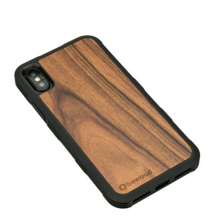 Drewniane Etui iPhone X/XS PALISANDER SANTOS HEAVY