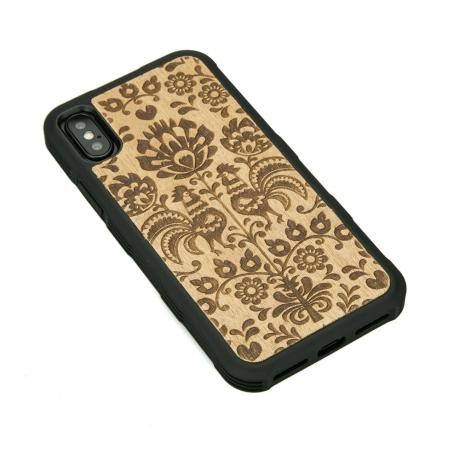 Drewniane Etui iPhone X/XS POLSKI FOLK ANIEGRE HEAVY