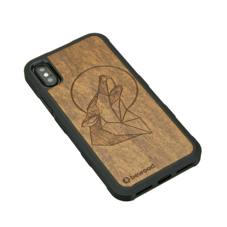 Drewniane Etui iPhone X/XS WILK IMBUIA HEAVY