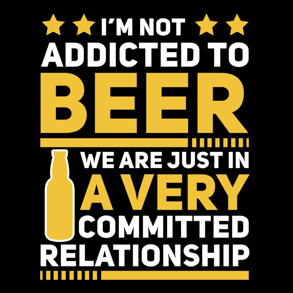 Koszulka z zabawnym mottem piwnym