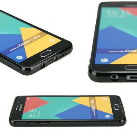 Drewniane Etui Samsung Galaxy A5 2016 RÓŻA WIATRÓW MERBAU