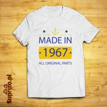 Koszulka z rokiem urodzenia personalizowana