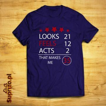 Koszulka na urodziny z wiekiem do wpisania (personalizowana)