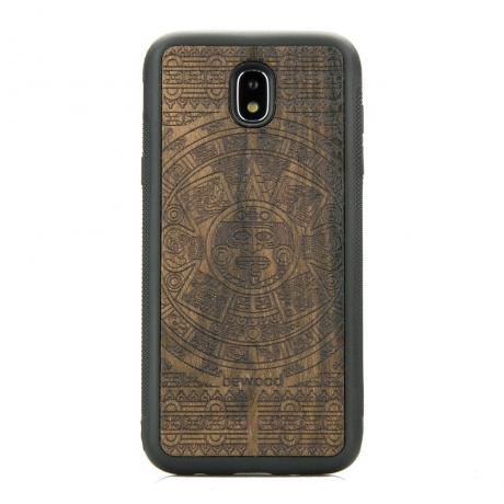 Drewniane Etui Samsung Galaxy J7 2017 KALENDARZ AZTECKI ZIRICOTE