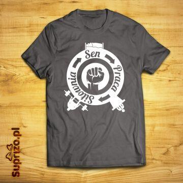 Koszulka dla trenujących z nadrukiem