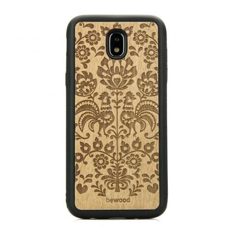 Drewniane Etui Samsung Galaxy J7 2017 POLSKI FOLK ANIEGRE