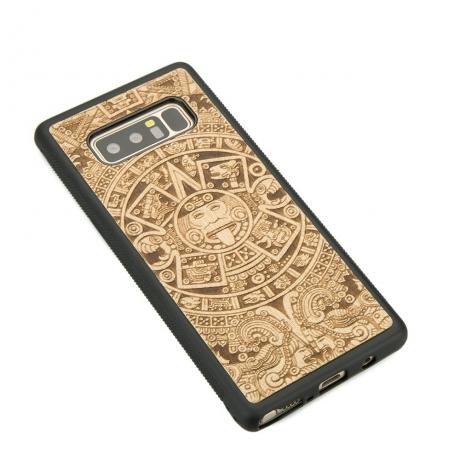 Drewniane Etui Samsung Galaxy Note 8 KALENDARZ AZTECKI ANIEGRE