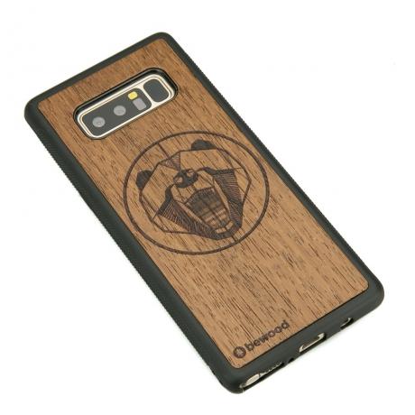 Drewniane Etui Samsung Galaxy Note 8 NIEDŹWIEDŹ MERBAU