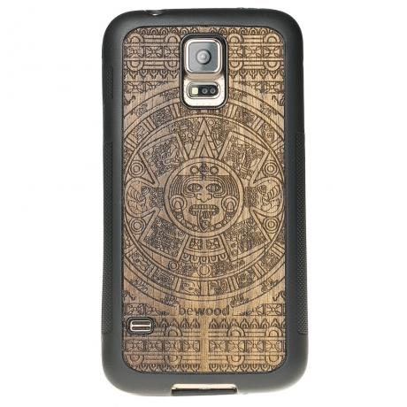 Drewniane Etui Samsung Galaxy S5/S5 Neo KALENDARZ AZTECKI LIMBA