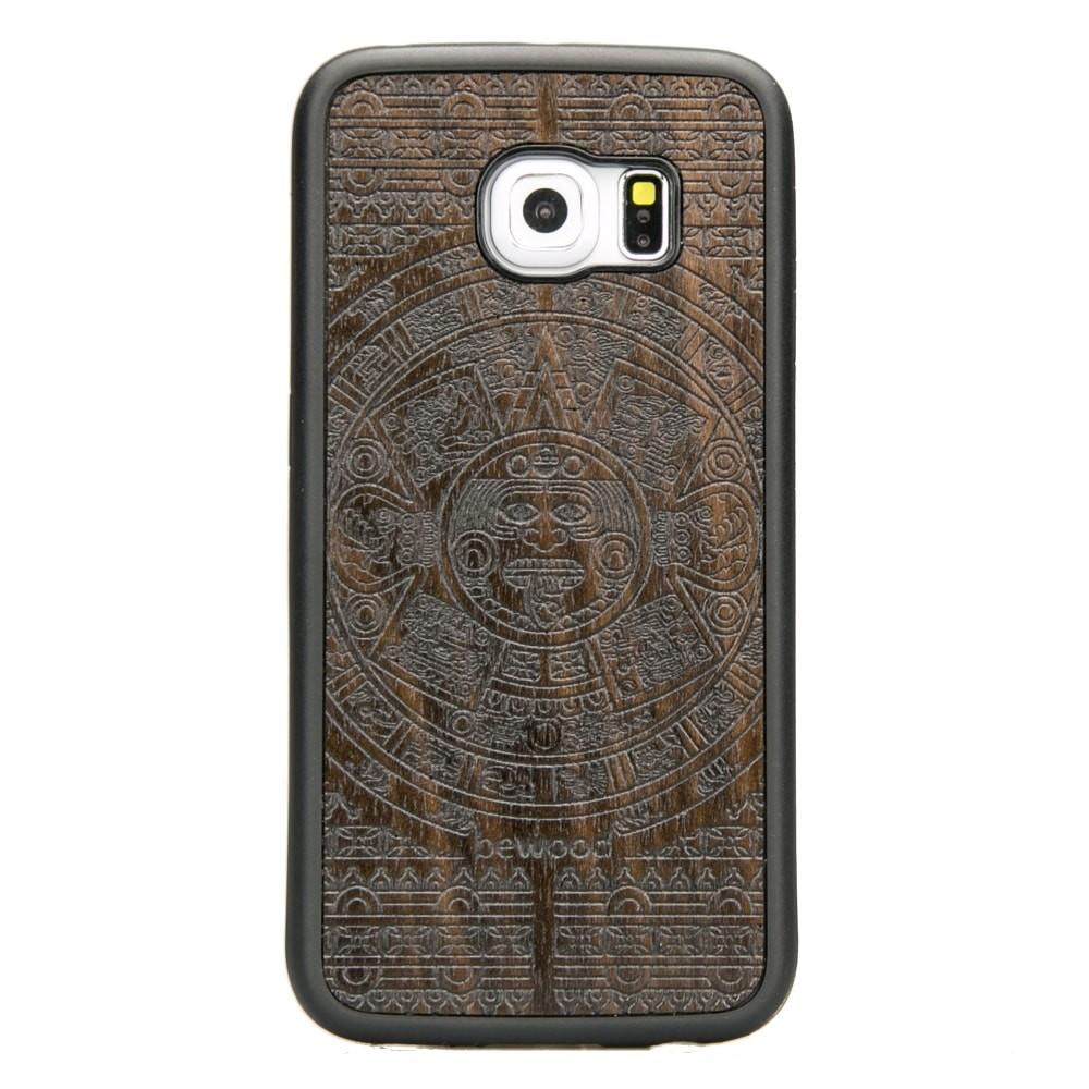 Drewniane Etui Samsung Galaxy S6 Edge KALENDARZ AZTECKI ZIRICOTE