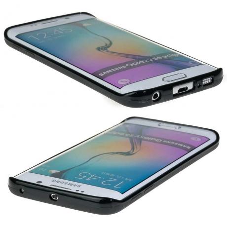 Drewniane Etui Samsung Galaxy S6 Edge RÓŻA WIATRÓW MERBAU BIELONA