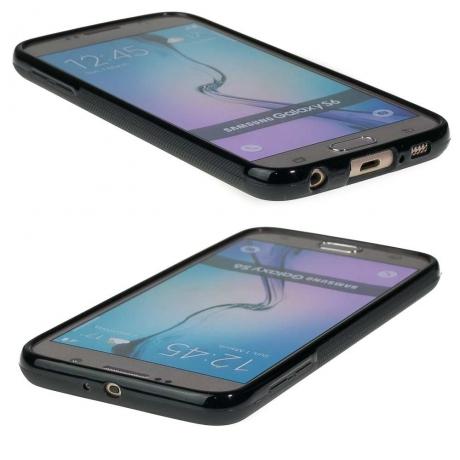Drewniane Etui Samsung Galaxy S6 RÓŻA WIATRÓW MERBAU BIELONA