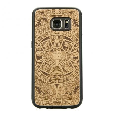 Drewniane Etui Samsung Galaxy S7 Edge KALENDARZ AZTECKI ANIEGRE