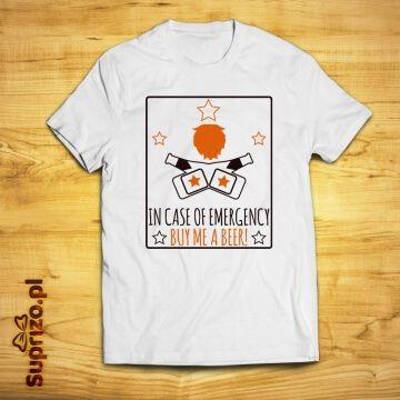 Koszulka z zabawnym nadrukiem dla miłośnika piwa
