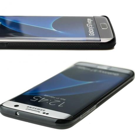 Drewniane Etui Samsung Galaxy S7 Edge RÓŻA WIATRÓW MERBAU BIELONA
