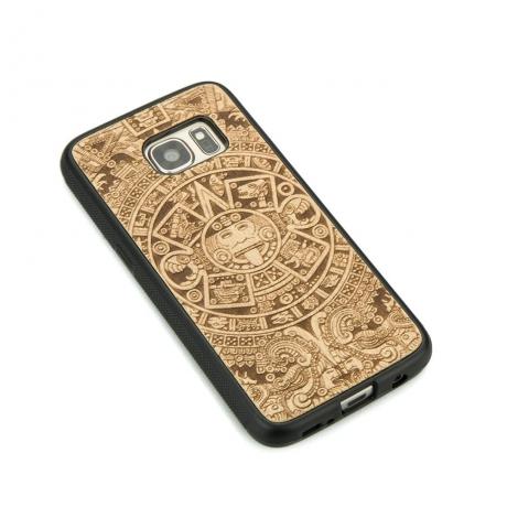 Drewniane Etui Samsung Galaxy S7 KALENDARZ AZTECKI ANIEGRE