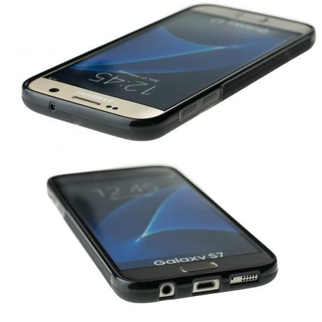Drewniane Etui Samsung Galaxy S7 RÓŻA WIATRÓW MERBAU BIELONA