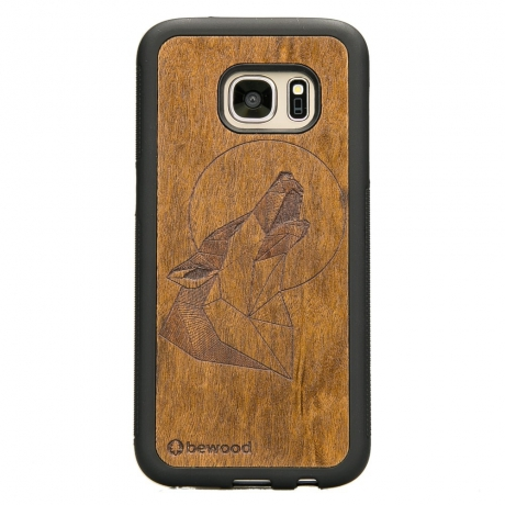 Drewniane Etui Samsung Galaxy S7 WILK IMBUIA