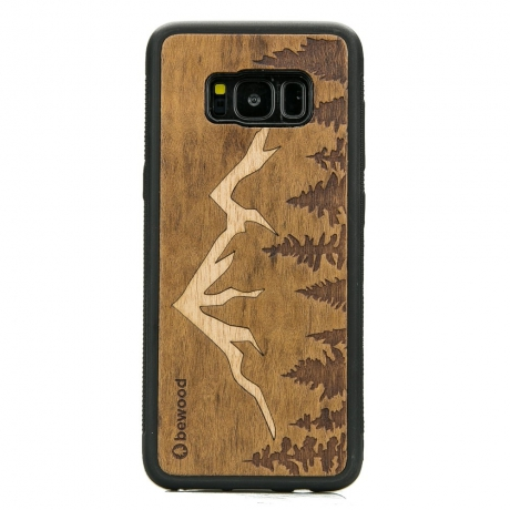 Drewniane Etui Samsung Galaxy S8 GÓRY IMBUIA