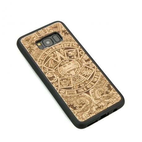 Drewniane Etui Samsung Galaxy S8 KALENDARZ AZTECKI ANIEGRE