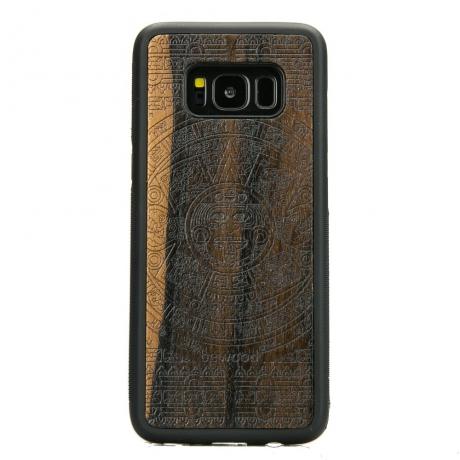 Drewniane Etui Samsung Galaxy S8 KALENDARZ AZTECKI ZIRICOTE
