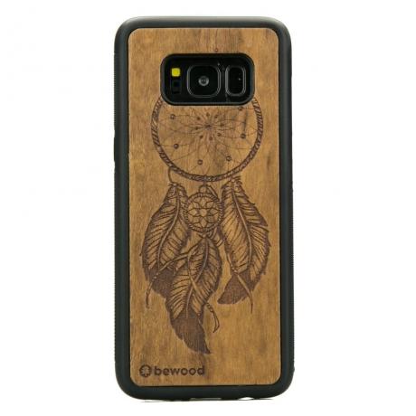 Drewniane Etui Samsung Galaxy S8 ŁAPACZ SNÓW IMBUIA