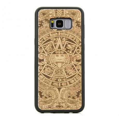 Drewniane Etui Samsung Galaxy S8+ KALENDARZ AZTECKI ANIEGRE