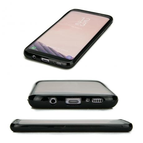Drewniane Etui Samsung Galaxy S8+ RÓŻA WIATRÓW MERBAU BIELONA