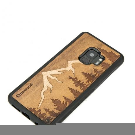 Drewniane Etui Samsung Galaxy S9 GÓRY IMBUIA