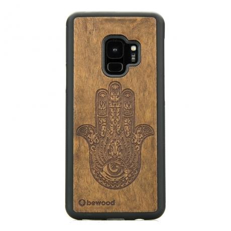Drewniane Etui Samsung Galaxy S9 HAMSA IMBUIA