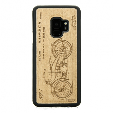 Drewniane Etui Samsung Galaxy S9 HARLEY PATENT ANIEGRE