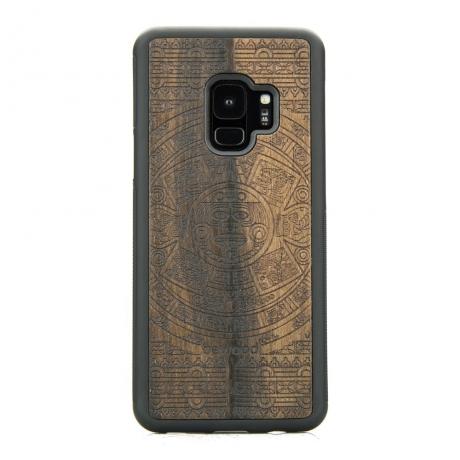 Drewniane Etui Samsung Galaxy S9 KALENDARZ AZTECKI ZIRICOTE