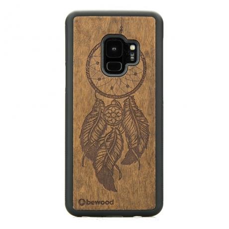 Drewniane Etui Samsung Galaxy S9 ŁAPACZ SNÓW IMBUIA