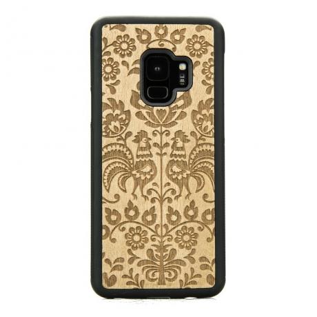 Drewniane Etui Samsung Galaxy S9 POLSKI FOLK ANIEGRE