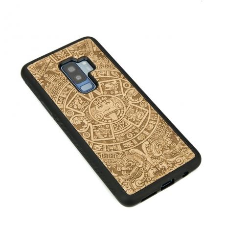 Drewniane Etui Samsung Galaxy S9+ KALENDARZ AZTECKI ANIEGRE