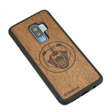 Drewniane Etui Samsung Galaxy S9+ NIEDŹWIEDŹ MERBAU