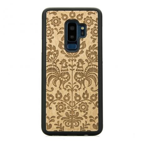 Drewniane Etui Samsung Galaxy S9+ POLSKI FOLK ANIEGRE