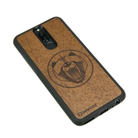 Drewniane Etui Huawei Mate 10 Lite NIEDŹWIEDŹ MERBAU