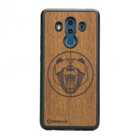 Drewniane Etui Huawei Mate 10 Pro NIEDŹWIEDŹ MERBAU