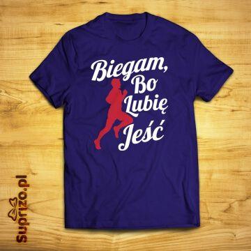 Koszulka do biegania ze śmiesznym napisem