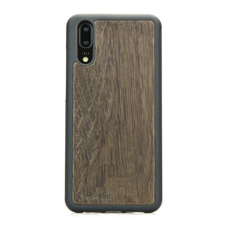 Drewniane Etui Huawei P20 DĄB WĘDZONY